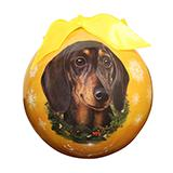 E&S Imports Shatterproof Animal Ornament Dachshund Black