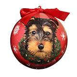 E&S Imports Shatterproof Animal Ornament Yorkie Pup