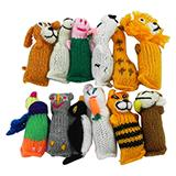 Barn Yarn Hand Knit Wool Cat Toy with Catnip 12 Pack