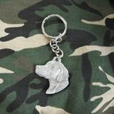 Pewter Key Chain I Love My Brittany Spaniel
