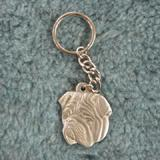 Pewter Key Chain I Love My Bulldog