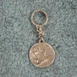 Pewter Key Chain I Love My Chow Chow