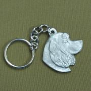 Pewter Key Chain I Love My Cocker Spaniel