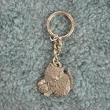 Pewter Key Chain I Love My Kitten w/ball