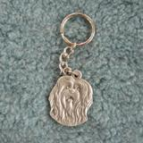 Pewter Key Chain I Love My Lhasa Apso