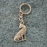 Pewter Key Chain I Love My Siamese