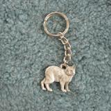 Pewter Key Chain I Love My Manx