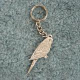 Pewter Key Chain I Love Parakeets