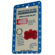 Reflex Bone Reflecting Dog Tag Red