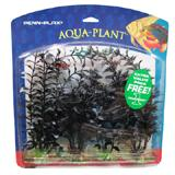 Family Pack Black Pearl Plastic Aquarium Plant