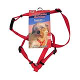 Adjustable XSmall Dog Harness 3/8-inch Red Nylon