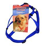 Adjustable XSmall Dog Harness 3/8-inch Blue Nylon