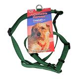 Adjustable XSmall Dog Harness 3/8-inch Green Nylon title=