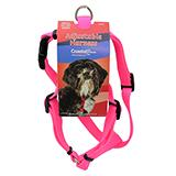 Adjustable Small Dog Harness 5/8-inch Pink Nylon