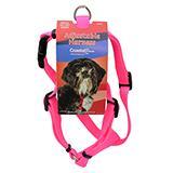Adjustable Small Dog Harness 5/8-inch Pink Nylon