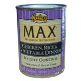 Nutro Max Weight Control Chicken,Rice & Vegetable Can Lg