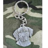 Pewter Key Chain I Love My Weimaraner