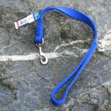 Nylon Dog Traffic Leash 1-inch x 2 foot Blue