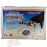 Double Dog Diner Steel 15 inches high with 2 3-Quart Bowls