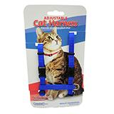 Adjustable Figure H Cat Harness Blue Nylon