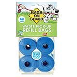 Bags On Board 4 Pack Doggy Waste Clean-up Bags Refill
