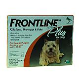 Frontline PLUS Dog 11-22 lb 3 pack Flea and Tick Treatment