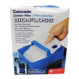 Cascade Bio-Floss Pad 6 pack for Penn Plax Canister Filters