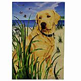 GR8 Dogs Yellow Labrador House Flag