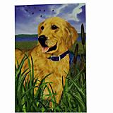 GR8 Dogs Golden Retriever House Flag