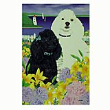 GR8 Dogs Poodle House Flag