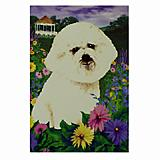 GR8 Dogs Bichon Frise House Flag