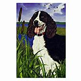 GR8 Dogs Springer Spaniel House Flag