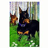 GR8 Dogs Doberman Garden Flag