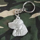 Pewter Key Chain I Love My American Water Spaniel