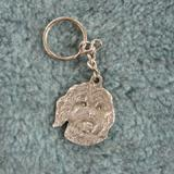 Pewter Key Chain I Love My Cock A Poo