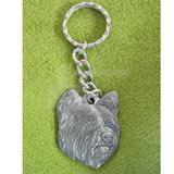 Pewter Key Chain I Love My Skye Terrier