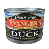 Evanger's Grain Free Duck Canned Dog and Cat Food 6 oz