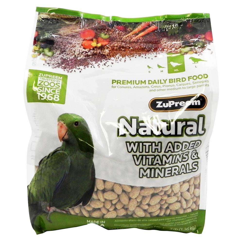 Zupreem Natural Blend Parrot/Conure Food 3 pound