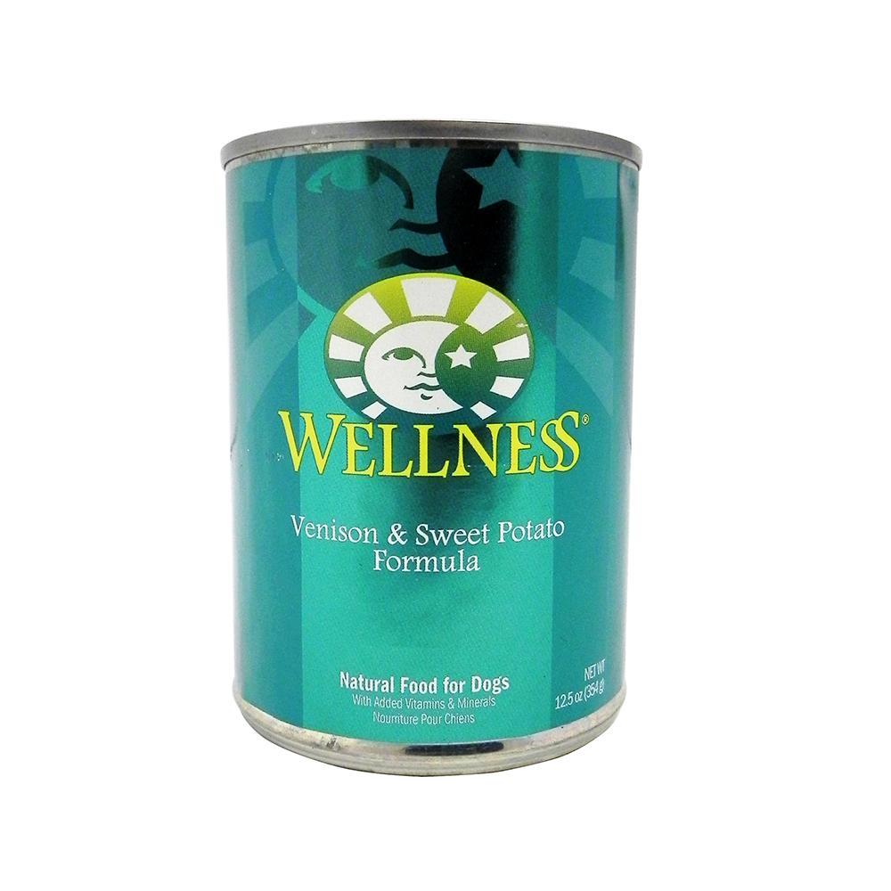 Wellness Venison and Sweet Potato Canned Dog Food Each