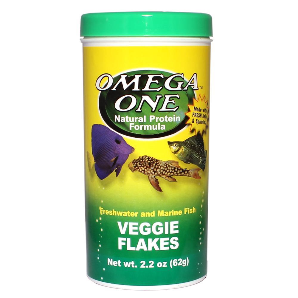 Omega one veggie flakes fish food 2 2 ounce aquar food for Omega one fish food