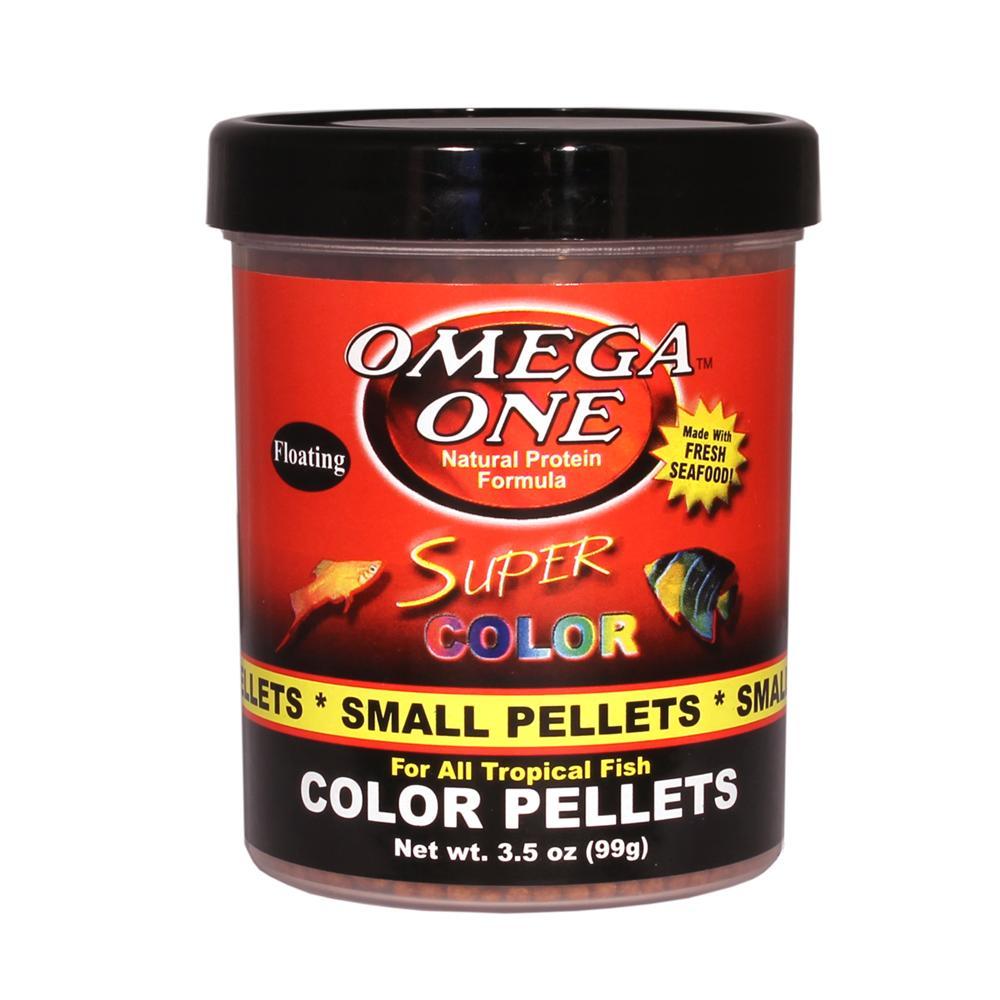 Omega One Super Color Floating Pellets Fish Food 3.5-oz.