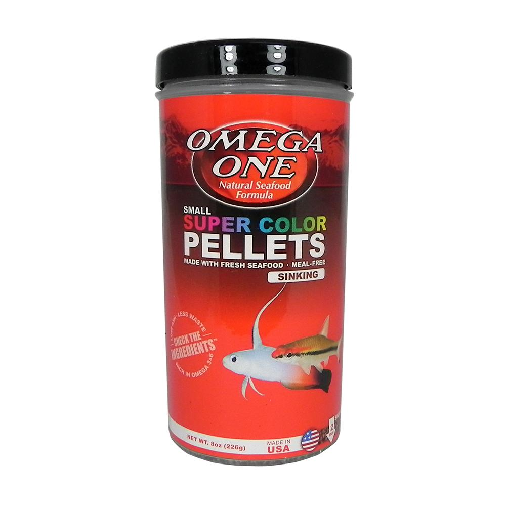 Omega One Super Color Floating Pellets Fish Food 6.5-oz