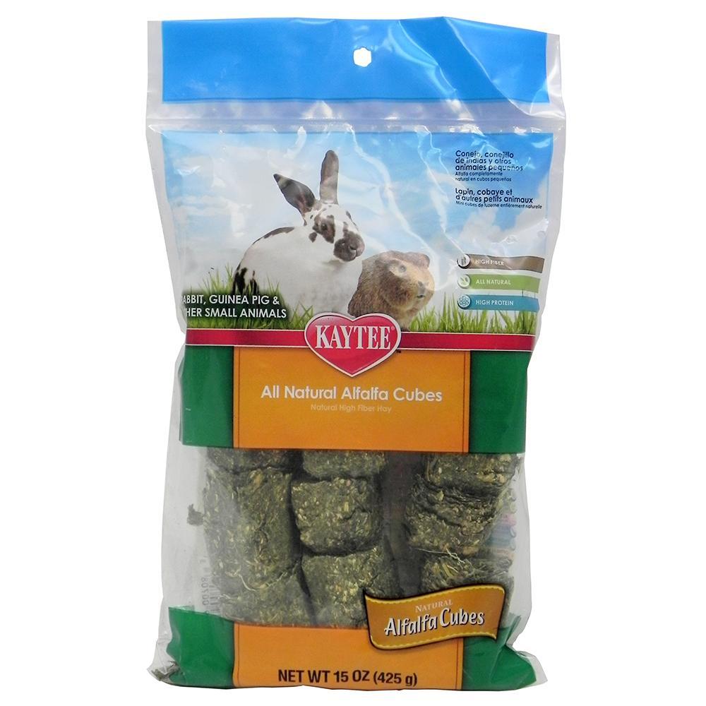 Kaytee Alfalfa Cubes 15oz Rabbit Small Animal