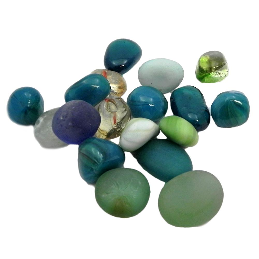 Gem Stones Flat Marbles Opaque Aquarium Decoration