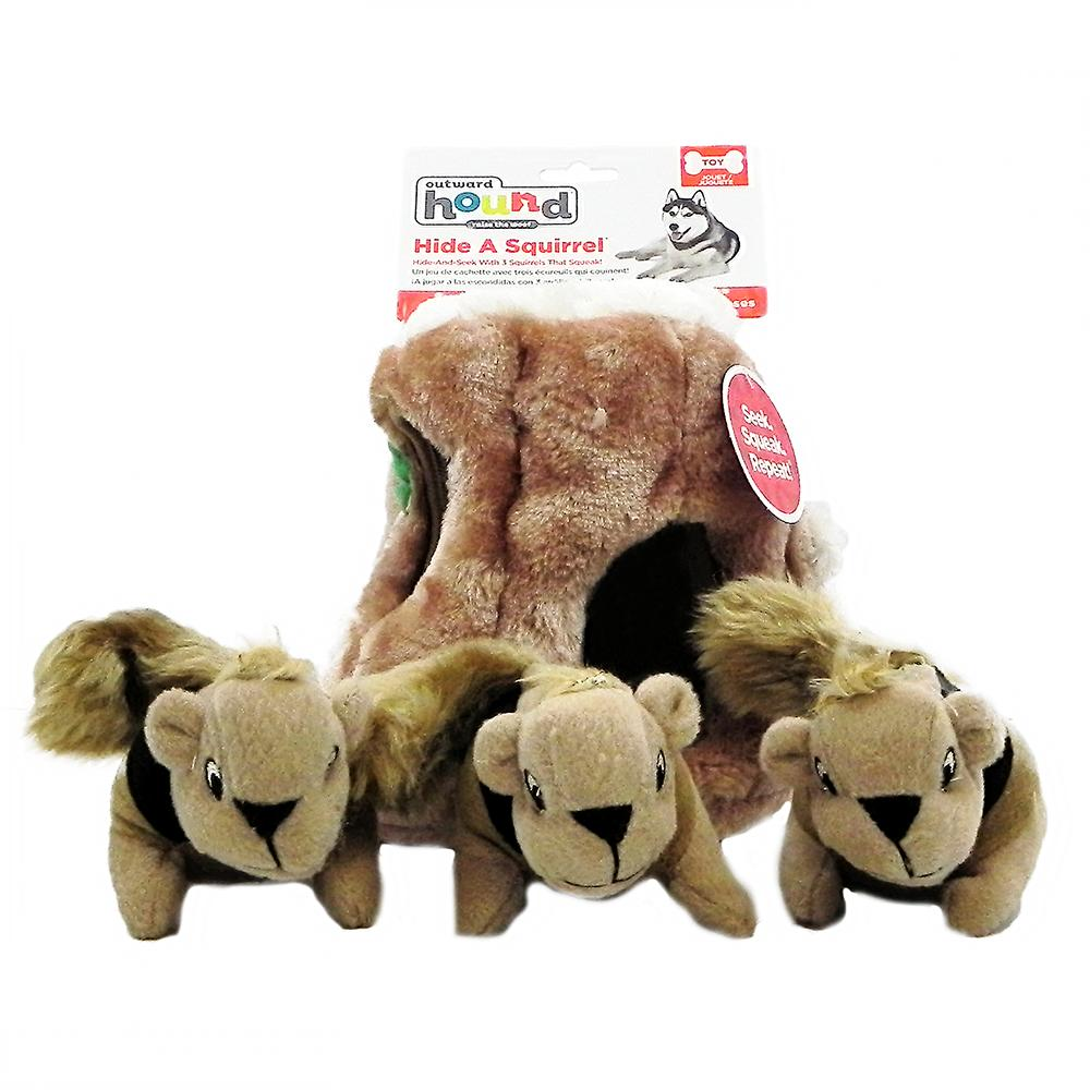 Puzzle Plush Hide A Squirrel Dog Toy