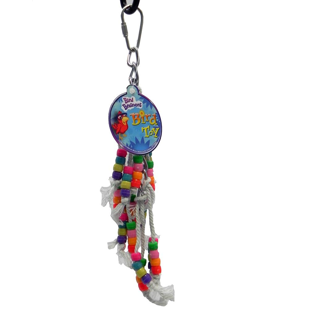 Bird Brainers Mini Strings with Beads Small Bird Toy