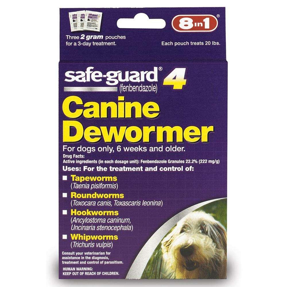 Safe-Guard Canine Dewormer 2 Gram 3 Pack