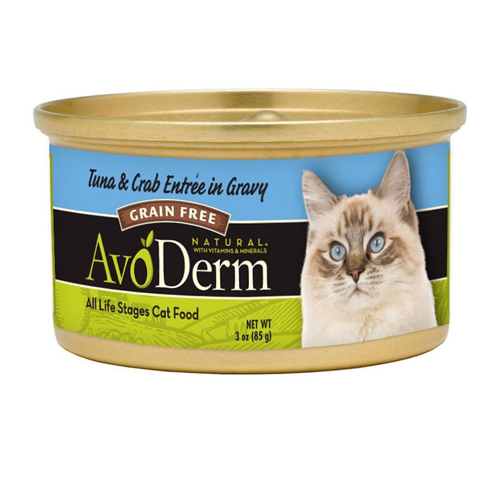 AvoDerm Cat Tuna Crab 3 oz Can Case 24