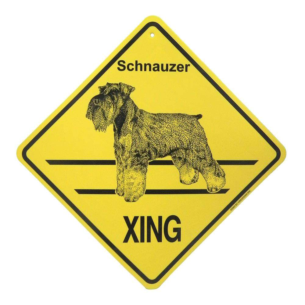 Xing Sign Schnauzer Plastic 10.5 x 10.5 inches