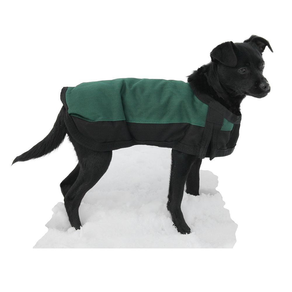 Dog Winter Blanket Coat Green Xsmall